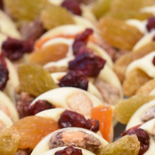 Dried Fruit Filled White Chocolate Bark