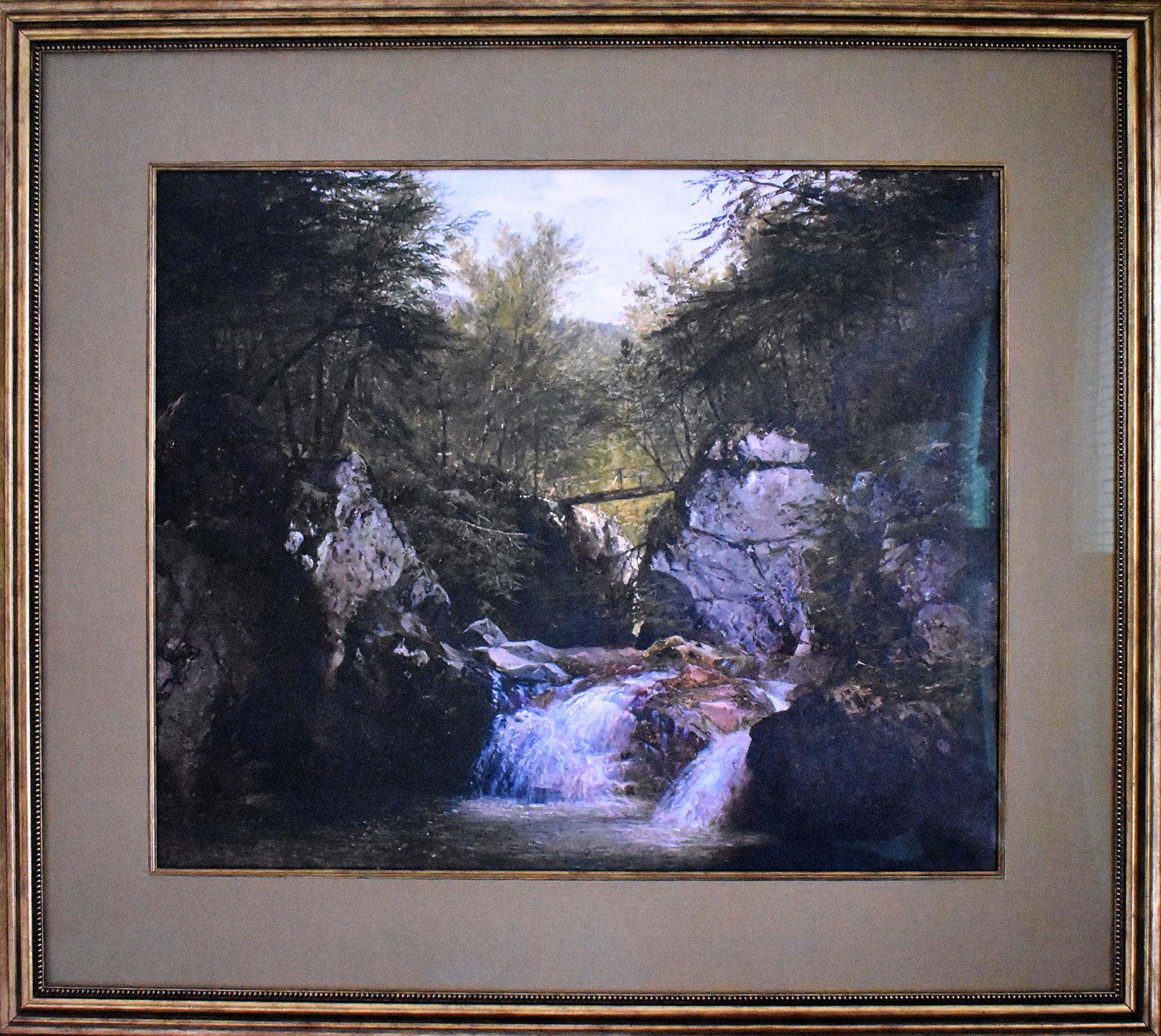 """Kensett Landscape, """"Bash-Bish Falls"""""""