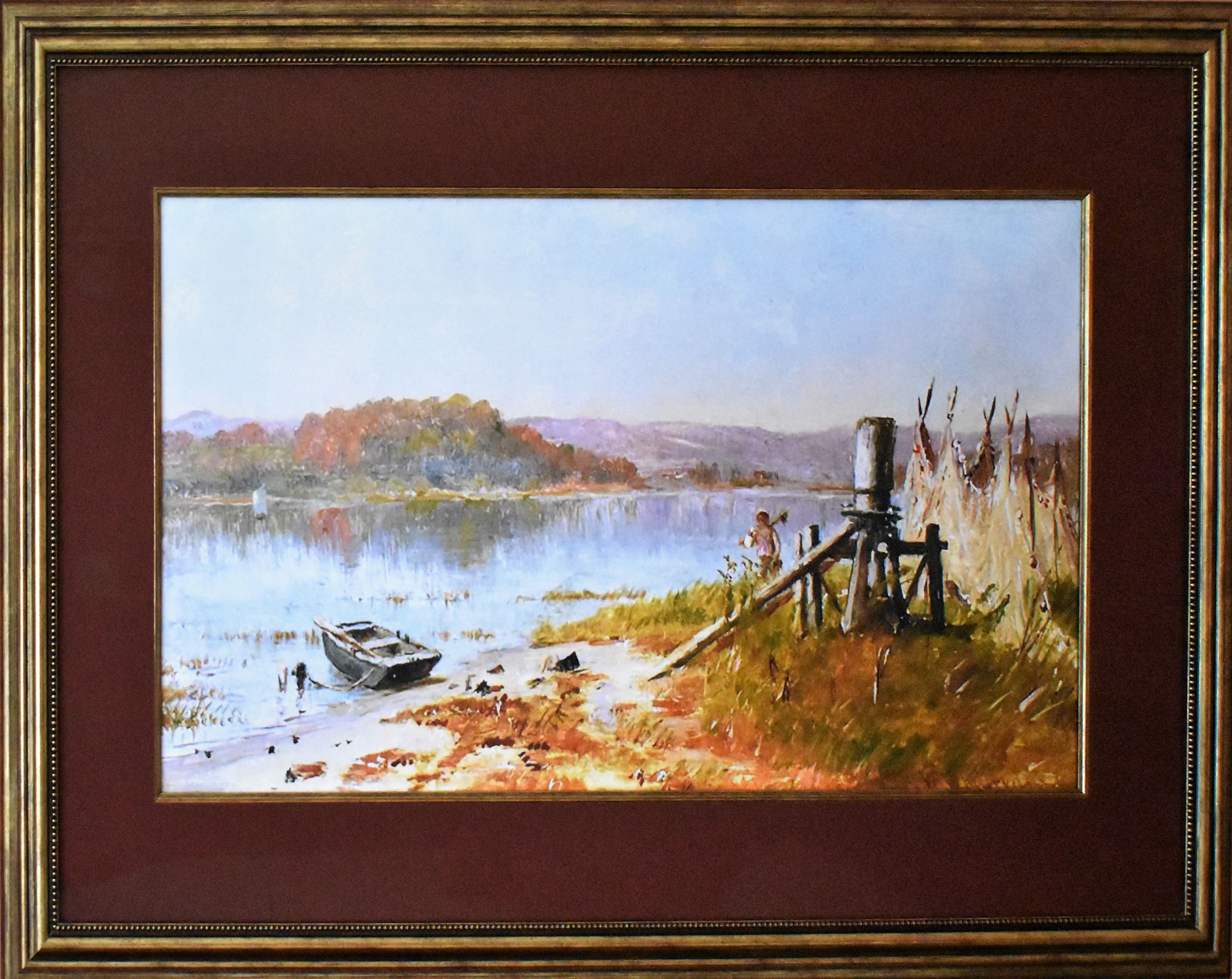 "Worthington Whittredge ""Fisherman's Windlass"""
