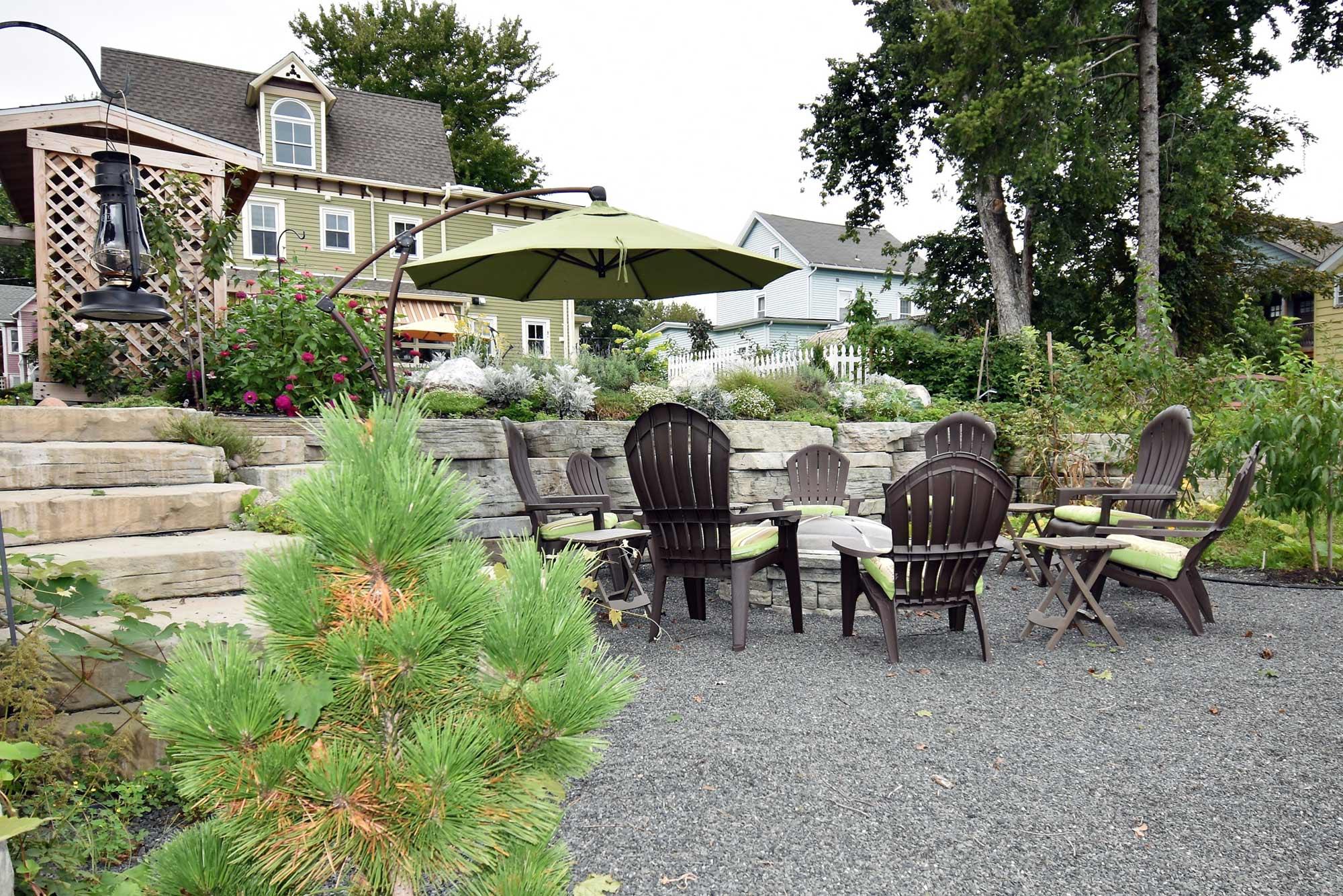 Backyard from Lower Terrace Garden