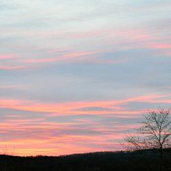 Winter Sunset over Marlboro Hills